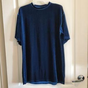 Topshop Blue Velvet Dress